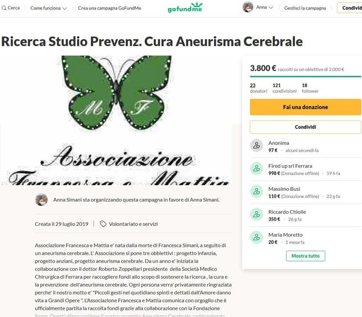 ringraziamenti-gofoundme-raccolta-fondi-per-progetto-aneurisma-francesca-mattia-associazione-ferrara